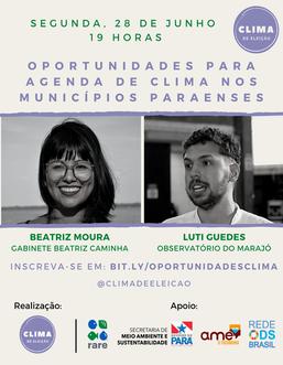 Oportunidades para a agenda de clima nos municípios paraenses