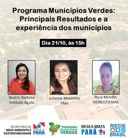Programa Municípios Verdes: principais resultados e a experiência dos municípios