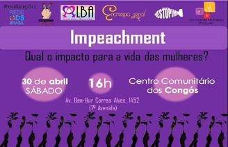 Roda de Conversa - Impeachment: qual o impacto para a vida das mulheres?