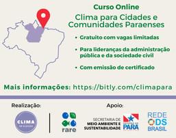 Curso Clima para Cidades e Comunidades Paraenses