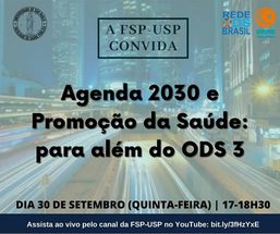 Agenda 2030 e Promoção da Saúde: para além do ODS 3