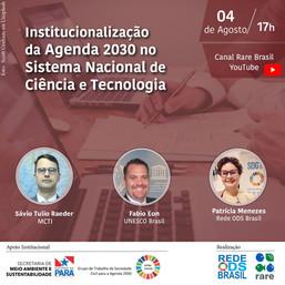 Institucionalização da Agenda 2030 no Sistema Nacional de Ciência e Tecnologia