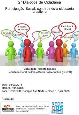 2° Diálogos de Cidadania - Participação Social: construindo a cidadania brasileira