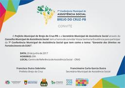 7ª Conferência Municipal de Assistência Social de Brejo do Cruz/PB