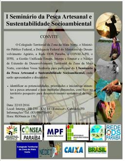 I Seminário de Pesca Artesanal e Sustentabilidade Socioambiental