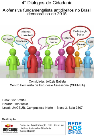 4° Diálogos de Cidadania - A ofensiva fundamentalista antidireitos no Brasil democrático de 2015