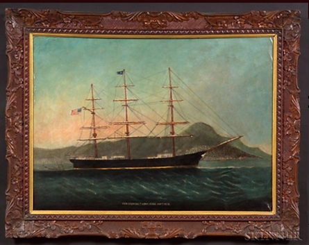 Centennial clipper ship painting, 1878,