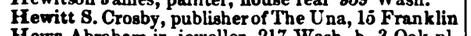 1855 Boston Directory, 149, Hewitt, The