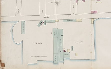 1868 map, Sanborn, plate 79, detail of M
