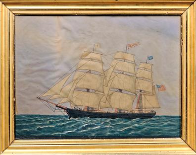 Ship Paul Revere, watercolor, Skinner, s