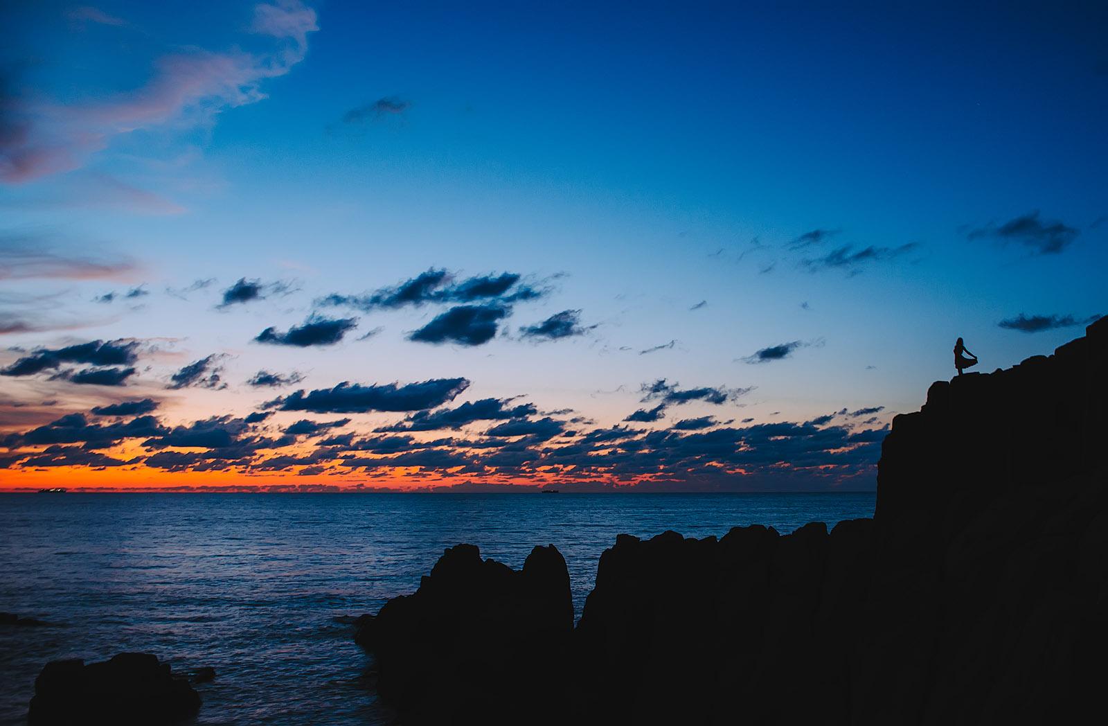 On the sunset