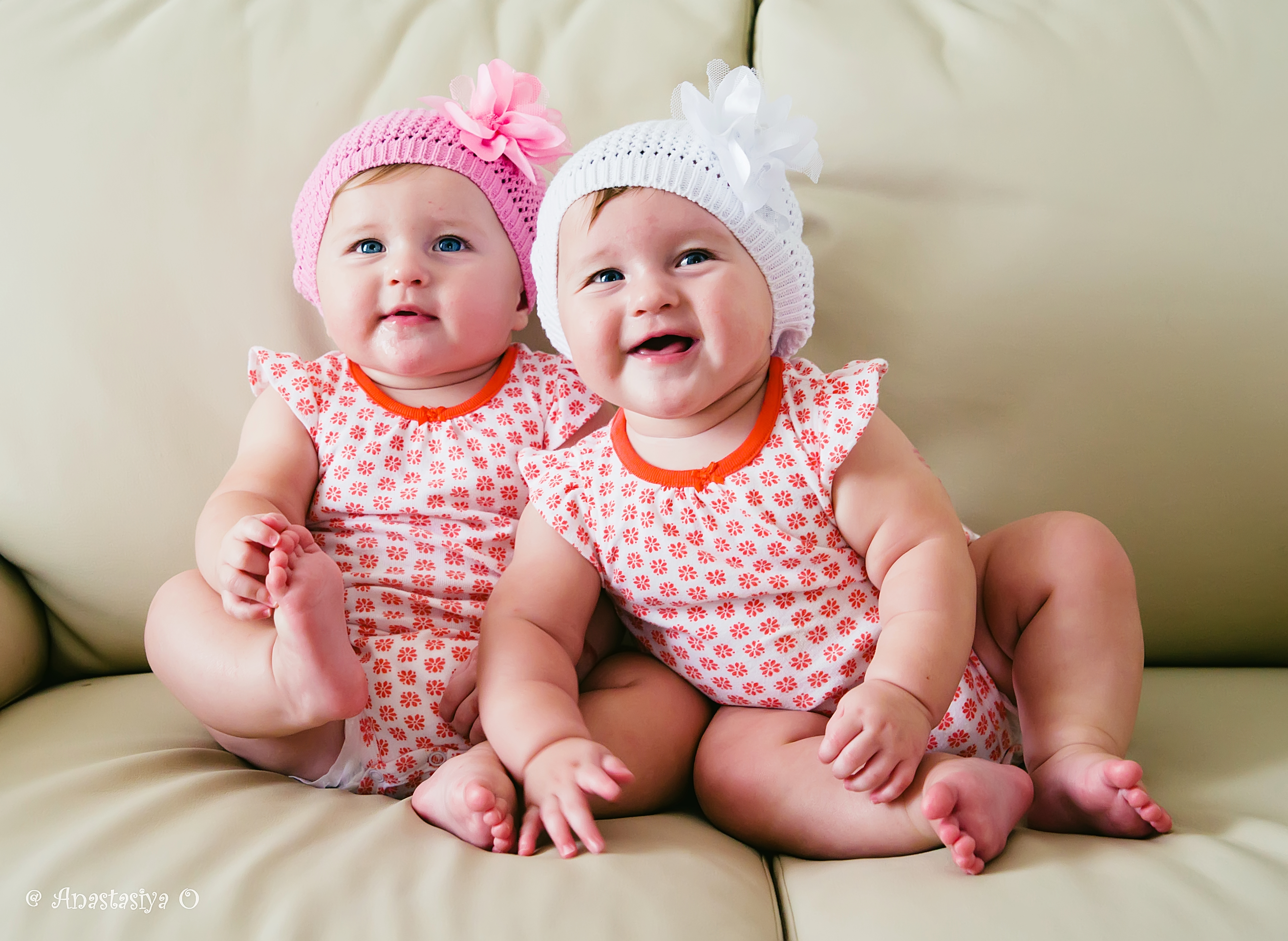 Beautiful twin girls