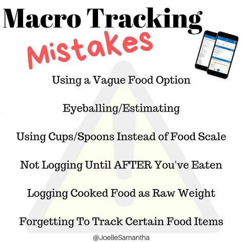 Macro Tracking Mistakes