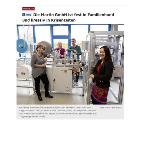 Rheinpfalz-Artikel: Die Martin GmbH ist fest in Familienhand
