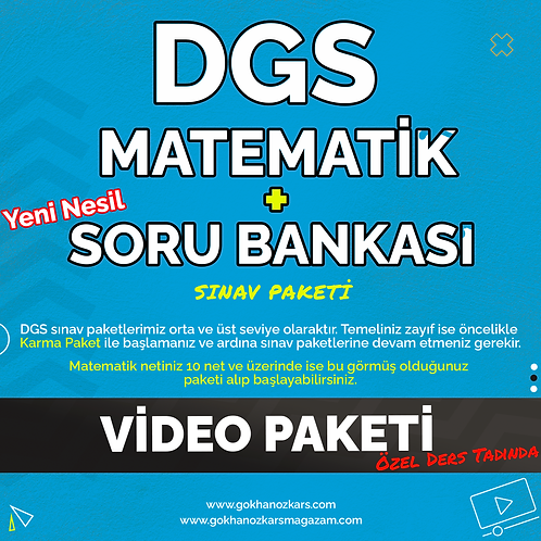 DGS MATEMATİK + SORU BANKASI