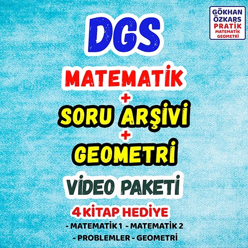 DGS MATEMATİK + GEO + SORU ARŞİVİ VİDEO PAKETİ