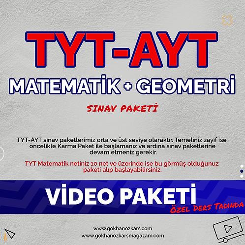 TYT & AYT MATEMATİK + GEOMETRİ VİDEO PAKETİ