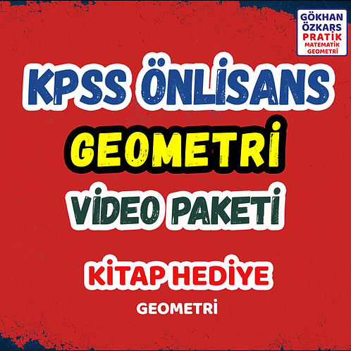 KPSS GEOMETRİ VİDEO PAKETİ