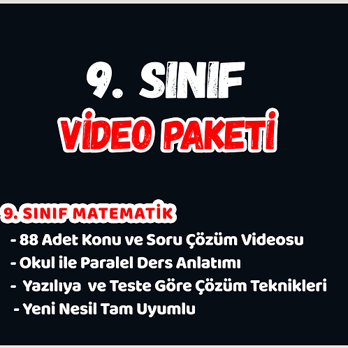 LİSE 1 (9 SINIF) VİDEO PAKETİ
