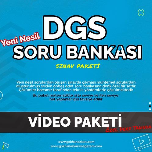 DGS SORU BANKASI VİDEO PAKETİ