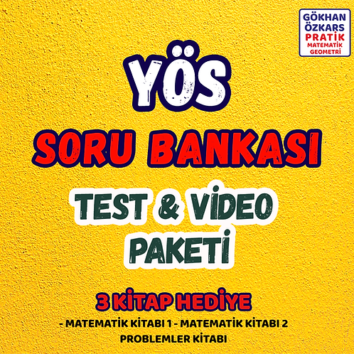 YÖS SORU BANKASI VİDEO PAKETİ