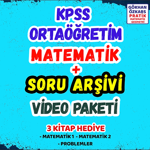 KPSS MATEMATİK + SORU ARİŞİVİ VİDEO PAKETİ