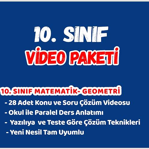 LİSE 2 (10.SINIF) VİDEO PAKETİ