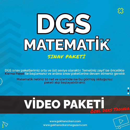 DGS MATEMATİK VİDEO PAKETİ