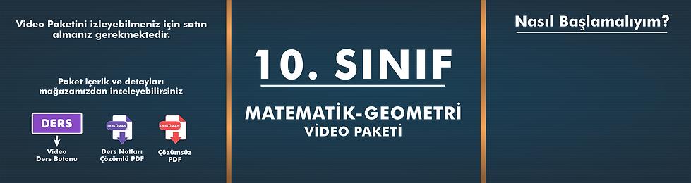 10. Sınıf  Matematik - Geometri Video Pa