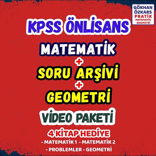 KPSS MATEMATİK + GEOMETRİ + SORU ARŞİVİ VİDEO PAKETİ