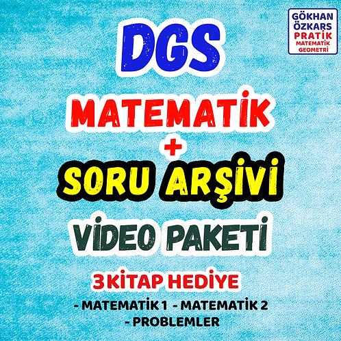 DGS MATEMATİK + SORU BANKASI ARŞİVİ VİDEO PAKETİ