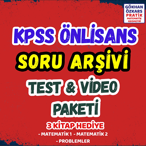KPSS SORU BANKASI ARŞİVİ VİDEO PAKETİ