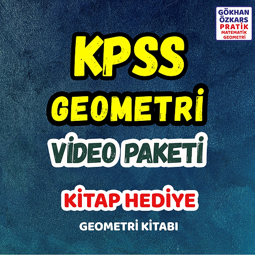 KPSS GEOMETRİ VİDEO PAKETİ