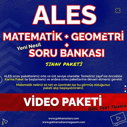ALES MATEMATİK + GEO + SORU BANKASI VİDEO PAKETİ