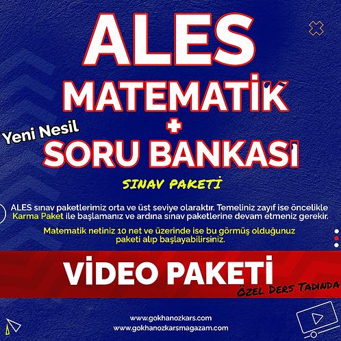 ALES MATEMATİK + SORU BANKASI VİDEO PAKETİ