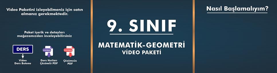 9. Sınıf  Matematik - Geometri Video Pak