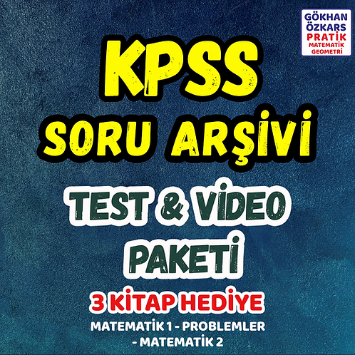 KPSS SORU ARŞİVİ VİDEO PAKETİ