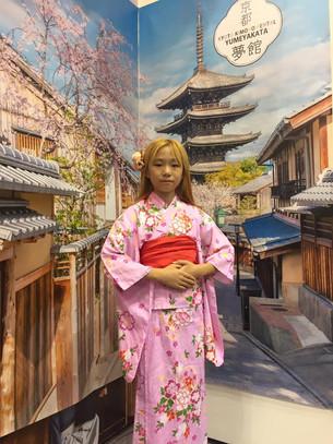 하나투어 여행박람회에서 유메야카타의 유카타 체험(2016년6월 9일~6월 12일)