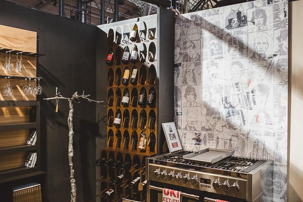 bibliothèque à vin - alma deco paris