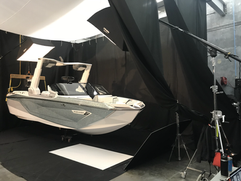 Photographing Nautique G25 Paragon in the studio.