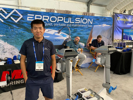 Unexpected visit China. Chandler Xu, marketing manager for Epropulsion.