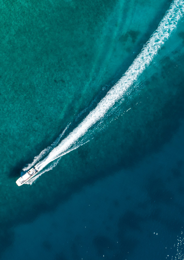 Aerial boat photography.