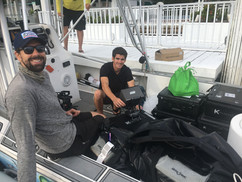 Production crew for geared up for Epropulsion shoot in Clearwater, Florida.