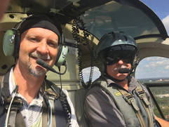 BIll Doster, Photographer and Paul Barth, pilot. Flying over the Florida keys to shoot boat photography.