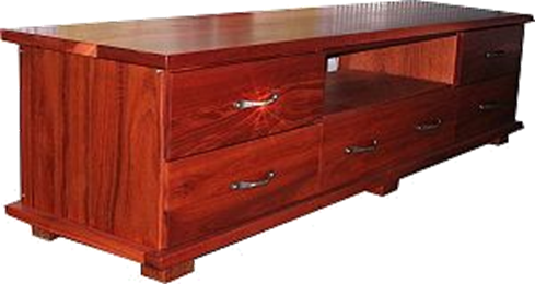 The South Beach Jarrah TV cabinet