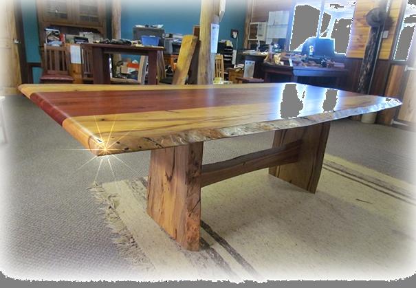 Marri with Jarrah natural edged Table