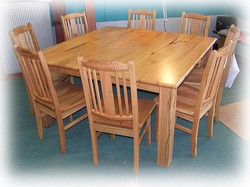 Marri Square Dining Table & chairs