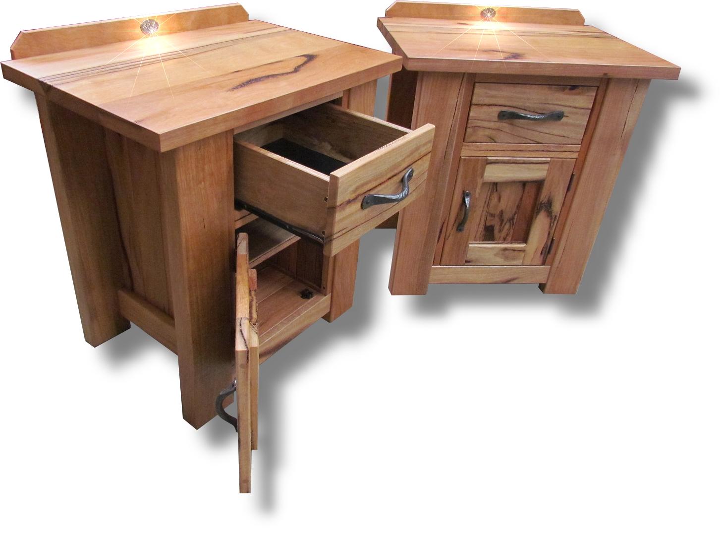 Marri door drawer bedsides 1