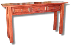 Jarrah 3 Drawer Hall Table