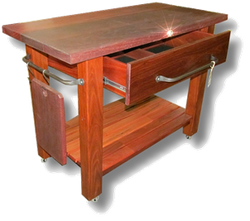 Jarrah Slab Top Kitchen Butchers Block2